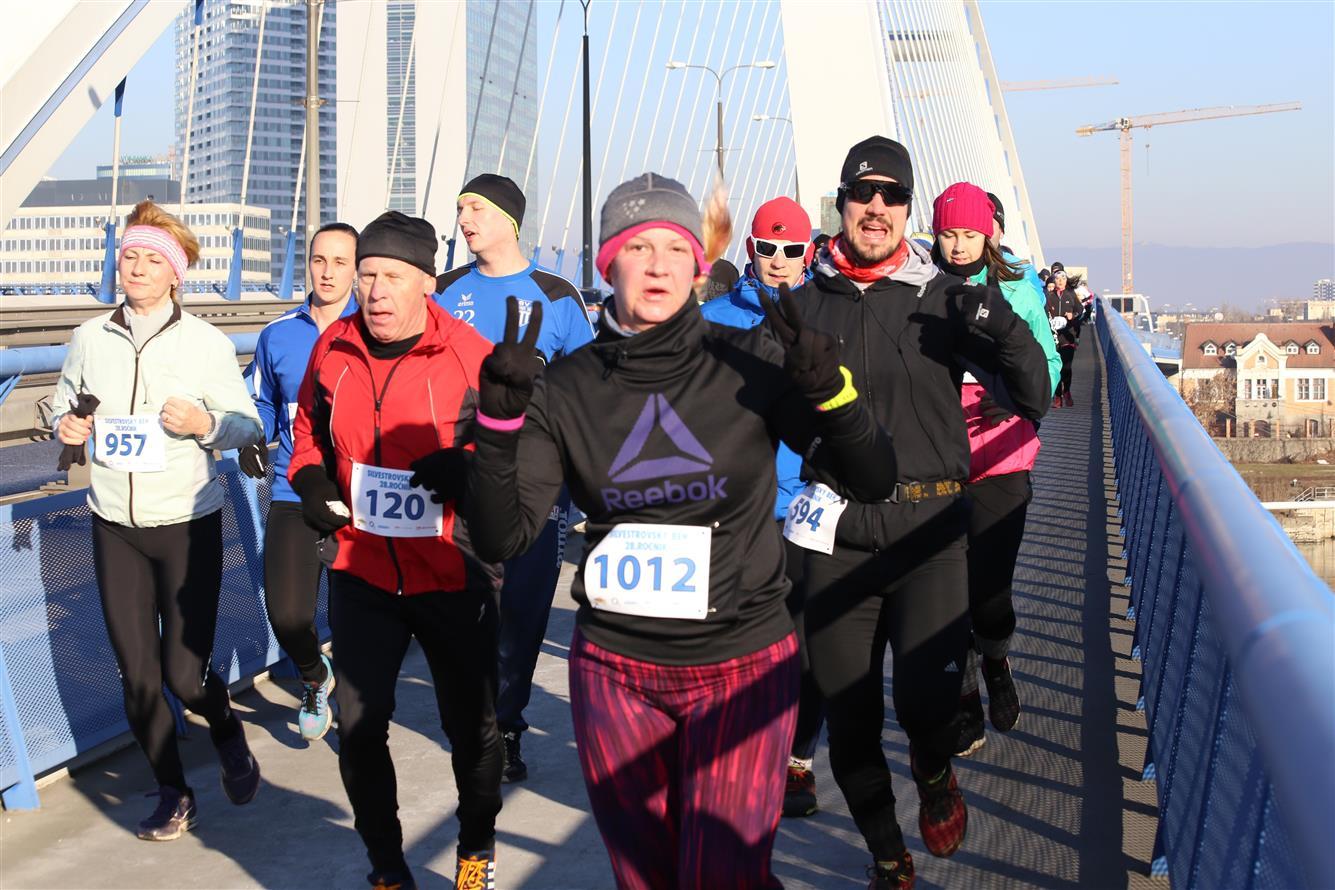 Новогодний бег по братиславским мостам